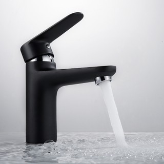 HIMARK Single Handle Matte Black Bathroom Sink Faucets
