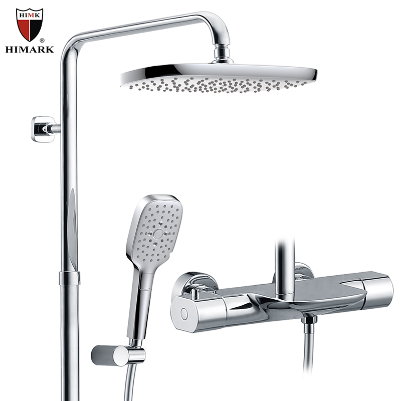 HIMARK bathroom thermostatic mixer shower faucet with multi function hand shower