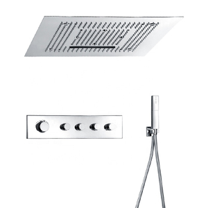Luxury Multi Function Thermostatic Shower System with LED Ceiling Shower Head