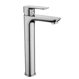 Chrome single handle vessel sink faucet for bathroom