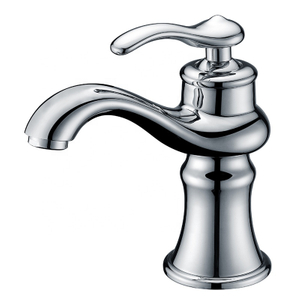 classic one handle chrome bathroom sink faucets