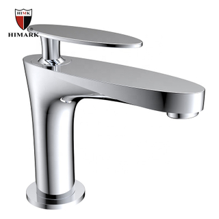 HIMARK one hole modern chrome basin mixer taps for bathroom sink
