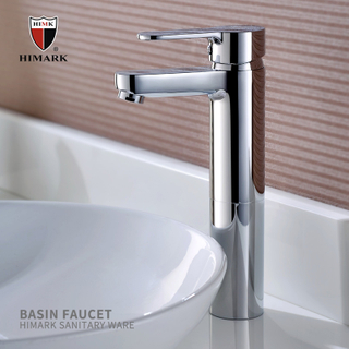 HIMARK China brass sinlge handle modern chrome bathroom vessel sink faucets